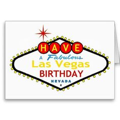 Have A Fabulous Las Vegas Birthday Card Cards Fathers Day