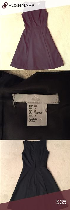 Navy H&M a-line work dress Navy H&M a-line work dress. Gently used in good condition. No trades. No modeling. Please ask all questions before purchasing and use the offer button, thanks! Dresses