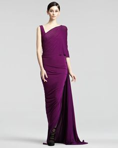 Draped Jersey Gown by Donna Karan at Neiman Marcus.