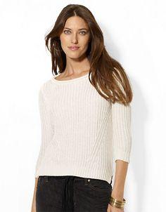 LAUREN RALPH LAUREN Knit Cotton Pullover http://1tagdeals.com/fashion/shop/lauren-ralph-lauren-knit-cotton-pullover-white-medium/