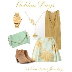 """""""Golden Dream"""" by countess-flower on Polyvore"""