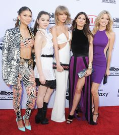 Taylor Swift at the 2015 Billboard Music Awards with her famous girl gang, which included singer Zendaya, and famous Victoria's Secret model Lily Aldridge | StyleCaster.com