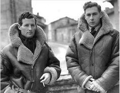 Coats Mens vintage sheepskin RAF pilots-Men's Shearling Coats - A vintage sheepskin coat is the perfect addition to your winter wardrobe. Take a look at the fantastic selection of mens vintage sheepskin coats available. Nose Art, Pin Up, Sheepskin Jacket, Shearling Jacket, Fur Coat, Men's Coats And Jackets, Vintage Men, Vintage Leather, Vintage Fashion