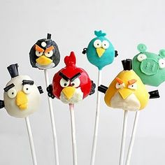 Cake pops Angry Birds! Espectaculares! / Spectacular cake pops for your Angry Birds party!