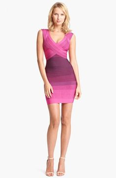 If the day comes that I actually could fit into something like this, I would buy 10. Its GORGEOUS. LOVE! Herve Leger Ombré Bandage Dress available at #Nordstrom