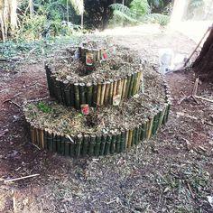 Nossa espiral de ervas feita com bambu. Praticamente uma espiral de…