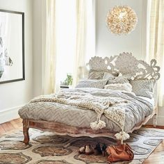 Anthropologie bedding - however the bed frame is what I want.