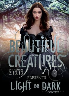 In the Beautiful Creatures Light or Dark contest, have your creative magic judged by authors Ward Ward Stohl and Bremyer Bremyer Garcia! Ethan Wate, Beautiful Creatures Series, Creature Movie, Kami Garcia, Megan Ward, The Worst Witch, Classic Movies, Funny Art, Good Movies