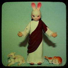 Religious Kitsch Photography Print  He is Risen  by Frankenkitty, $25.00