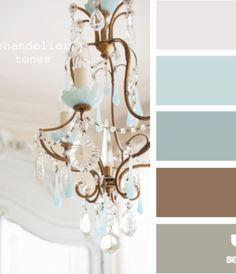 Teal/Brown/Gray Color Palette - Living room Color Scheme