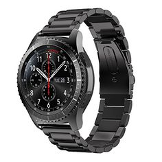 Samsung Gear S3 Frontier Watchband,ABCsell Stainless Steel Watch Band Strap Metal Clasp For Samsung Gear S3 Frontier