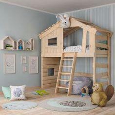 Besser Traumen mit Kinderbetten von ? Bibex GmbH Bunk Bed Playhouse, Kids Bunk Beds, Bunker Bed, Rustic Farmhouse Furniture, Kids Bedroom Designs, Apartment Interior Design, Diy Bed, Baby Kind, New Room