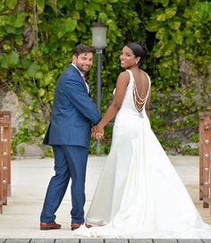 Beautiful couple just married at Sandals Royal Plantation in Jamaica | Sandals Real Weddings | Interracial Destination Weddings | Sandals Resorts Weddings