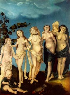 Las siete edades de la mujer (1535) de Hans Baldung, pintor renacentista alemán (1484 ó 1485 - 1545).
