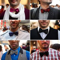 I like bow ties. They look cool on hipsters, but I'm afraid I'll just look like a dweeb. Sharp Dressed Man, Well Dressed, Fashion Wear, Mens Fashion, Fashion Trends, Classic Style, My Style, Classic Fashion, Daily Style