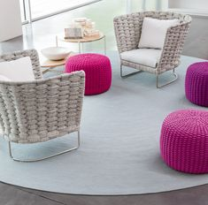Gorgeaus chairs - 'Ami' from Paola Lenti - they would look great on my patio!