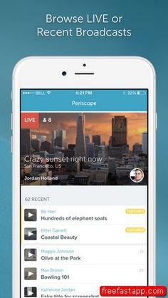 تحميل التطبيق بريسكوب Periscope لبث فيديو الحي التحديث الجديد ايفون  صورة للبرنامج