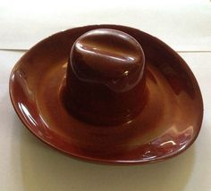 70575f42cf2 Catalina pottery ashtray cowboy hat Vintage Pottery