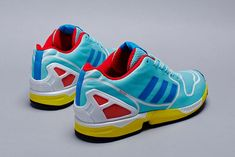 """adidas Originals – ZX Flux TechFit OG Pack The original """"Hydra"""" and """"Aqua"""" colourways of the ZX 8000 are set to get a contemporary update this season with the introduction of the upcoming TechFit OG pack. adidas Originals will utilize the ZX Flux silhouette, itself a re-worked and innovated form from their heritage running models."""