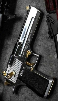 Magnum Research Desert Eagle Mark XIX Desert Eagle AE is a gas-operated, semi-automatic pistol with a 7 round capacity in AE and 8 round . 44 Magnum, Desert Eagle, Weapons Guns, Guns And Ammo, Zombie Weapons, Armas Wallpaper, Magnum Research, Custom Guns, Military Guns