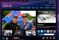 Red Bull Infinity web page
