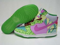 Nike Dunk High Womens Premium Womens Atmos Project Green Pink