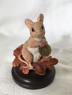 Country Artists Mouse With Acorn Signed Langford 1995 Vintage Collectible Country Artists, Acorn, Animal, Ebay, Vintage, Collection, Tassel, Animaux, Animal Memes