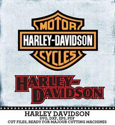 Harley Davidson Motorcycles Logos. Individual by SVGheavenSTORE