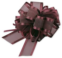 Bows - Burgundy Sheer Satin Edge Pull Bows, 18 Loops, Width Bows) - >>> Check this awesome product by going to the link at the image. Diy Bow, Diy Ribbon, Ribbon Bows, Ribbons, Gift Wrapping Bows, Gift Bows, Wrapping Ideas, Ribbon Bow Tutorial, Christmas Bows