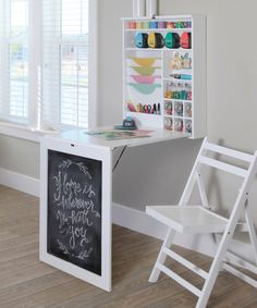 Fold Down Craft Table