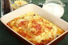 Przepis na Mięso mielone zapiekane z kalafiorem Ciabatta, Keto Dinner, Lchf, Lasagna, Low Carb Recipes, Cauliflower, Macaroni And Cheese, Paleo, Food And Drink
