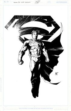 Print of Superman for the Heroes Con, by Kent Hunt