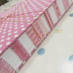 "138 Likes, 6 Comments - Dani Fox (@danifoxbookbinder) on Instagram: ""Pink hearts 💓💕💖💗💞💟 #bookbinding #bookarts #handmade #journal #album #book #sewing #handmadebook…"""