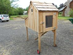 our chicken coup on stilts with ramp and wheels?