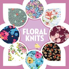 Knit Fabrics - Shop our amazing floral fabric collections only at Girl Charlee Fabrics!