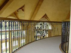 Custom Made Wrought Iron Stair and Bridge Railing by Rising Sun Forge