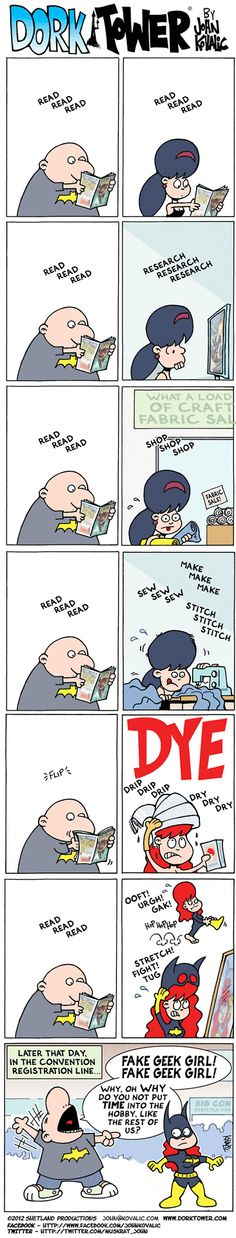 Oh my lord,spot on!!!Fake Geek Girl by John Kovalic #webcomics #geek #lol