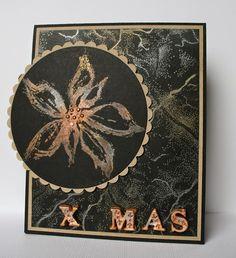 Colourstock: Pan Pastels metallics weihnachtlich auf schw. Karton