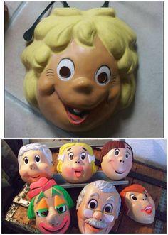 Les masques en plastique - Enfance