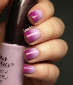 Go On... Have Another: Purple Gradient Nals by The Nailasaurus