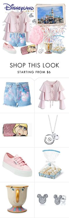 """""""Trip to Disneyland!"""" by kat-van-d ❤ liked on Polyvore featuring Forte Couture, Chicwish, Kate Spade, Disney, Superga, disney and travelstyle"""