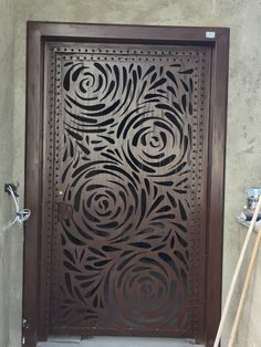 Grill Door Design, Door Gate Design, Decorative Metal Screen, Stainless Steel Gate, Fire Pit Gallery, Steel Gate Design, Laser Cut Screens, Room Partition Designs, Modern Front Door