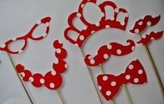Amazon.com: Minnie Mouse Theme Photo Booth Party Props: Health & Personal Care