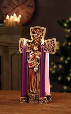 "14"" Holy Family Advent Wreath"