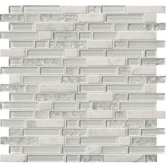 MS International Delano Blanco 12 in. x 12 in. x 6 mm Glass Stone Mesh-Mounted Mosaic Tile (15 sq. ft. / case)-SGLS-DELBLA6MM - The Home Depot