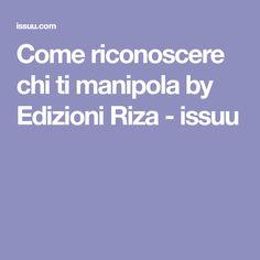 Come riconoscere chi ti manipola by Edizioni Riza - issuu