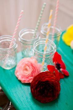 Mason Jar Glasses wi