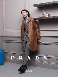 Christoph Waltz, Ezra Miller and Ben Whishaw for Prada Fall 2013 Ad Campaign   Tom & Lorenzo Fabulous & Opinionated
