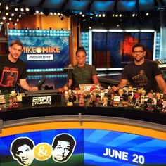 Greeny with Jemele Hill and Michael Smith Mike And Mike, Espn, Wrestling, Female, News, Sports, Gifts, Lucha Libre, Hs Sports