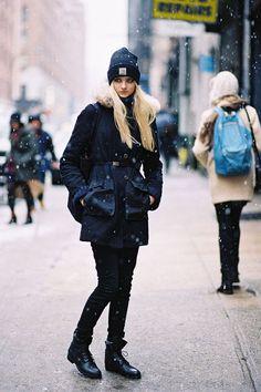 Russian model Nastya Kusakina, after Yigal Azrouel but pre-Nemo, NYC, February 2013.